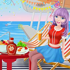 Одевалка: принцесса на частной яхте
