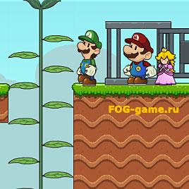 Луиджи и принцесса Пич спасают Марио