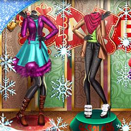 Одевалка: Рождественская Витрина