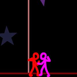 Стикмен: цветные драки