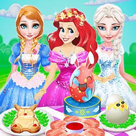 Принцессы Диснея: Пасхальный обед