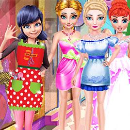 Леди Баг делает прически принцессам Диснея