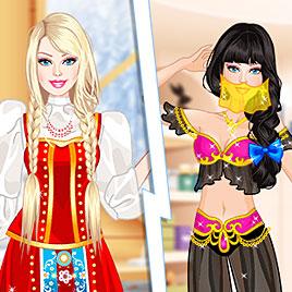 Барби: российская, японская, индийская и арабская принцесса
