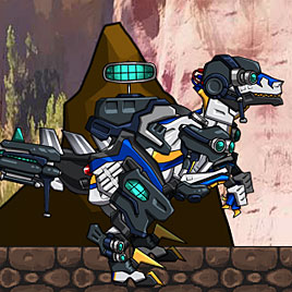 Роботы Динозавры: Велоцираптор полицейский