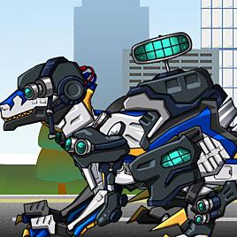 Роботы динозавры: Собирать Велоцираптора Полицейского