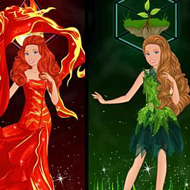 Барби принцесса Воды, Огня и Земли