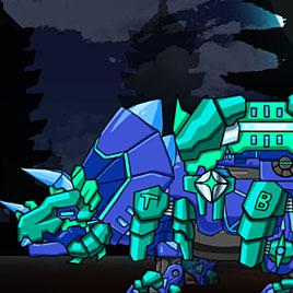 Роботы Динозавры: Синий Трицератопс