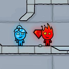 Огонь и Вода в ледяном храме на планшет
