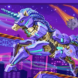 Роботы динозавры: Кибер Единорог