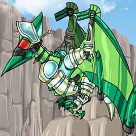Роботы динозавры: Зеленый Птеранодон