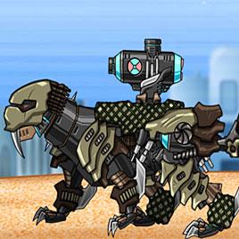 Роботы динозавры: Черный Смилодон