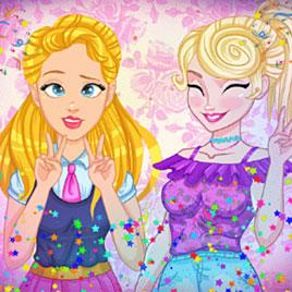 Новые игры для девочек: Одри и Элиза в Инстаграм фотобудке
