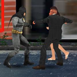 Драки: Бэтмен против преступников