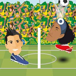 Играющие головы легенды футбола