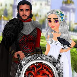 Игра престолов одевалка: Свадебное платье королевы драконов