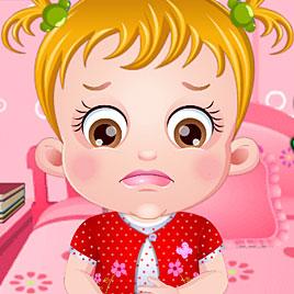 Малышка Хейзел лечит желудок