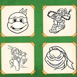 Черепашки ниндзя: Книга-раскраска