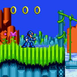 Мегамен Икс в Соник 2 - Megaman X in Sonic 2