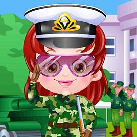 Одевалка: Малышка Хейзел офицер армии