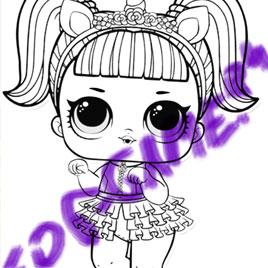 Игра Куклы Лол Раскраска: Единорожка - играть онлайн бесплатно