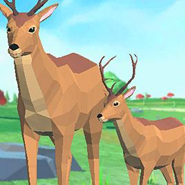 Симулятор Оленя 3Д: Семья Животных