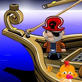 Счастливая обезьянка: Уровень 314 Акула Пирата