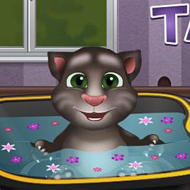 Маленький Говорящий Кот Том В Ванной