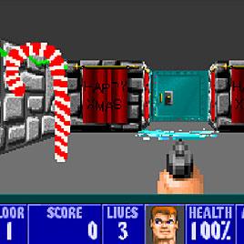 Christmas Wolfenstein 3D / Рождественный Вольфенштейн 3Д