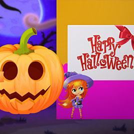 Счастливый Хэллоуин Принцесс: Дизайн Открыток
