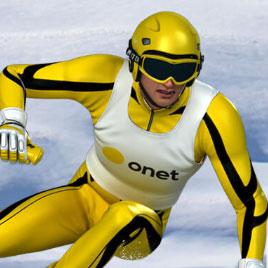 Лыжный Слалом Санты И Спортсменов
