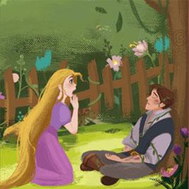Рапунцель Спасает Принца