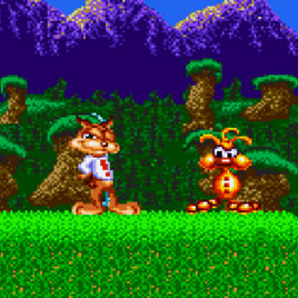 Bubsy in Claws Encounters of the Furred Kind Sega / Бабси 1 Сега