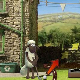 Барашек Шон играет в гольф