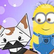 Игра Игра Миньоны Хэллоуин оригами кошка