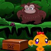 Игра Игра Счастливая обезьянка: Уровень 460 Три Идола Часть 3