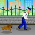 Игра Игра Полицейский Бег От Собаки