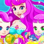 Игра Игра Беременная русалка рожает близнецов