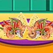 Игра Игра Тортилья с креветками: канапе