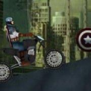 Игра Игра Капитан Америка: ускорение на мотоцикле