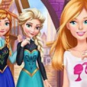 Игра Игра Барби в гостях у Эльзы и Анны