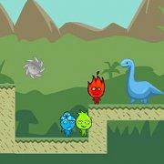 Игра Игра Огонь и Вода на троих: война динозавров
