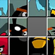 Игра Игра Angry Birds: скользящие пазлы
