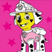 Игра Игра Раскраска щенячий патруль: Маршал