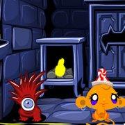 Игра Игра Счастливая обезьянка: Уровень 500 Золотой Голем