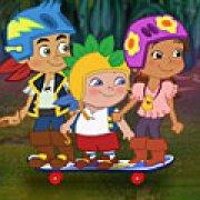 Игра Игра Джейк и Пираты Нетландии: побег на скейте