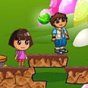 Игра Игра Даша и Диего на двоих в стране конфет