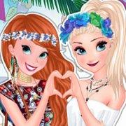 Игра Игра Эльза и Анна Холодное сердце: фестивали летом