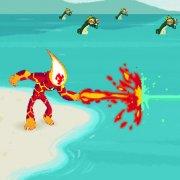 Игра Игра Бен 10 Человек Огонь: драка