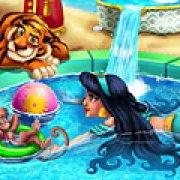 Игра Игра Жасмин плавает в бассейне