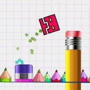 Игра Игра Геометрия Даш: Прыжки в Тетрадке